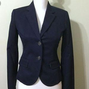 J Crew Womens Navy City Fit Blazer Jacket Sz 6